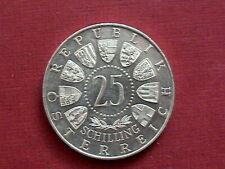 25 SCHILLING Silber W.A.MOZART 1956 PP?? gebraucht  (2)