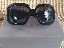 NIB! RV $350! AUTHENTIC DIOR 807JJ 61 17 120 BLACK SUNGLASSES