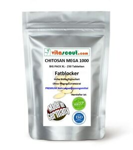 CHITOSAN - 250 Tabletten - MADE IN GERMANY - OHNE MAGNESIUMSTEARAT - no Kapseln