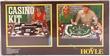 Vintage Casino Kit by Hoyle 1979 Stancraft #8302 Blackjack Poker Chips Cards New