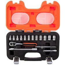 "BAHCO S160 16 Piece 1/4"" Sq. Drive Mini Ratchet, Hex Sockets & Extension Bar Set"