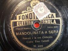 """78 giri""""TINO GALLETTI"""" NOTTE DI VENEZIA - MANDOLINATA A SERA """"  FONOTECNICA ELET"""