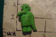 vintage ROBOT Eraser: 1980's FIGURE, GREEN WITH LONG ARM