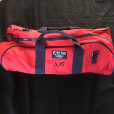 Lands End Hiking Camping Duffel Bag Red Active Large Travel Carry On Luggage AJS