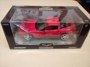 1/24 Greenlight Diecast Limited Edition 2005 Red Corvette