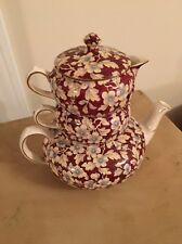 ANTIQUE LORD NELSON CHINTZ STACKABLE TEA POT Royal Brocade