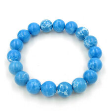 10mm Blue Howlite Turquoise Tibet Buddhist Prayer Beads Mala Bracelet