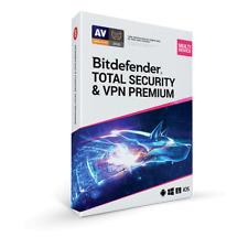 Bitdefender Total Security & VPN PREMIUM 5 PC 1 ANNO