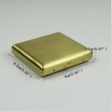 Copper cigarette box case holder gold color with gift box fit for boys gift,CC02