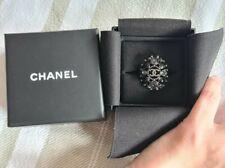 Women Ruthenium Chanel Fashion Jewellery Ring 52 New