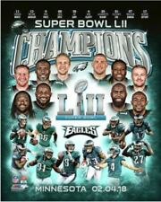 PHILADELPHIA EAGLE'S SUPERBOWL (LII)  8X10 TEAM PLAYER'S PHOTO.