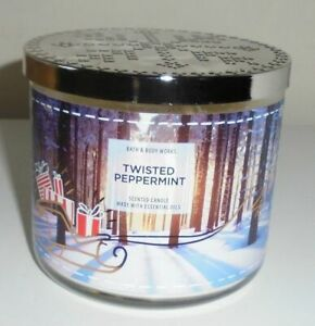 BATH & BODY WORKS TWISTED PEPPERMINT 14.5oz JAR CANDLE DELICIOUS PEPPERMINT!