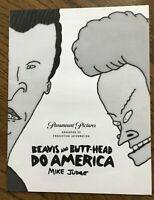 Beavis and Butt-Head Do America booklet, Mike Judge Signed, Animator, Cartoonist