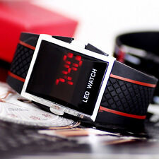 Hot Boy's Kid'sTrendy LED Luxury Digital Date Silicone Band Sports Wrist Watch