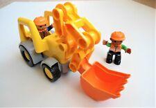 Lego Duplo Construction Excavator/ Bulldozer & 2 Minifigs