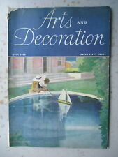 Arts & Decoration Magazine - July 1933 Issue - Homes, Art Deco Interiors, More!
