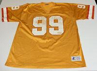Vtg Jersey Tampa Bay Buccaneers Orange Creamsicle Warren Sapp 99 Mens XL