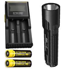 Nitecore EC4GT XP-L Hi LED Flashlight -1000Lm w/2x NL183 Battery & D2 Charger