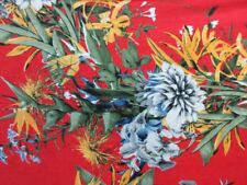 "3 yards & 30"" stretch spandex lycra fabric floral print"