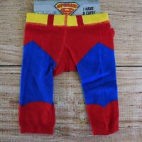 Baby Boys SUPERMAN Pants ~ Size 00 ~ Superbaby Tights removable cape ~ New ~ MBC
