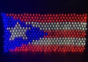 Bandera De Puerto Rico Boricua Coqui Orgullo Puertorriqueño Puerto rico Flag LED