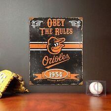 MLB Vintage Metal Sign 11.5 x 14.5  Baltimore Orioles