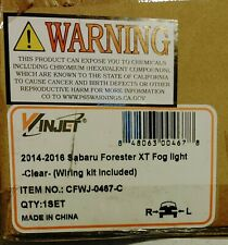 For 2014-2016 Subaru Forester XT Fog Lights w/Wiring Kit - Clear