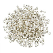 10 g Silver 2MM Brass Tube Crimp Beads Fashion Accessory Jewelry about 900 Pcs