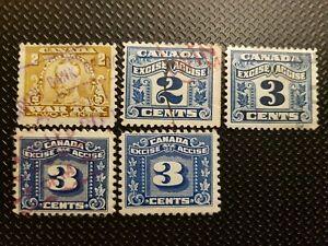 Schöne uralte Klassik Steuer-Briefmarken weltweit aus Kanada