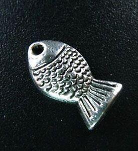 45pcs Tibetan Silver Cute Fish Charms R156