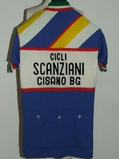 Shirt Bike Shirt Maillot Cycling Heroic Vintage 70'S Scanziani 80% Wool