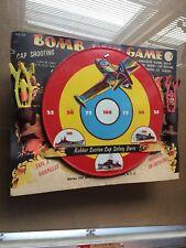 Vintage Cap Shooting Game Target Bomb Tin Royal Board
