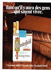 PUBLICITE ADVERTISING 037  1972   les cigarettes Chesterfield