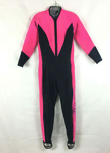 Henderson Aquatics Hot Pink Black Climate Polartec Dive Wetsuit Suit Sz 8 Women