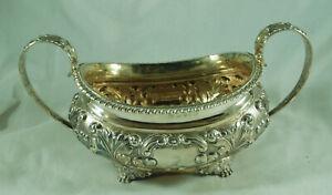Georgian Silver Crested Sugar Bowl RP London 1820 305g ADZX008