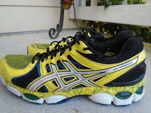 Mens Asics Gel-Nimbus 14 Limited Edition yellow/black running shoes sz 10