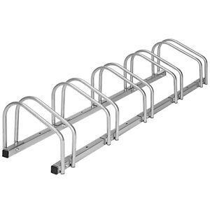 Rastrelliera portabici per 5 biciclette bicicletta bici supporto pavimento paret