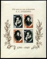 USSR-Russia-1949 150th anniversary of the birth poet Alexander Pushkin 180€