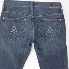 Ladies Seven 7 for All Mankind A POCKET Bootcut Blue Jeans W33 L34