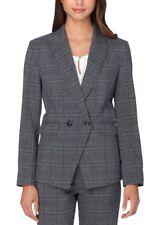 Tahari Arthur S. Levine Women's Grey/Black Plaid Double Breasted Jacket - Sz 16P