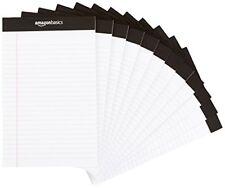 AmazonBasics Narrow Ruled 5 x 8-Inch Writing Pad - White (50 sheets per pad, ...