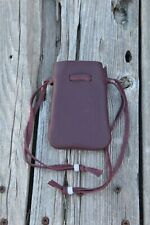 Drawstring leather pouch , Leather medicine bag , Crystal bag