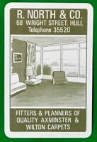 Playing Cards Single Card Old NORTH Co CARPET FITTERS Advertising Retro Lounge 1