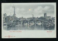 Worcestershire Worcs WORCESTER Severn Bridge Novelty Hold to Light PPC 1903
