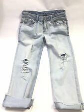Rue 21 Denim Distressed Capri Jeans Size 2 Light Wash