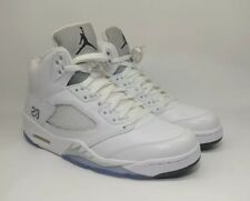 2965f03d488b 2015 Nike Air Jordan 5 V Retro White Metallic Silver Size 10 136027-130