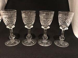 4 X tudor crystal shot glasses