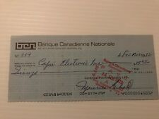 Maurice Richard signed (General Fishing Lines) cheque #354 (autographed)