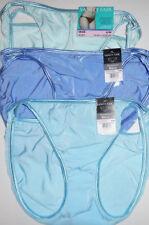 3 Vanity Fair String Bikini Panty Set Nylon Illumination 18108 6 M Blue NWT