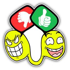 "Like And Dislike Car Bumper Sticker Decal 5"" x 5"""